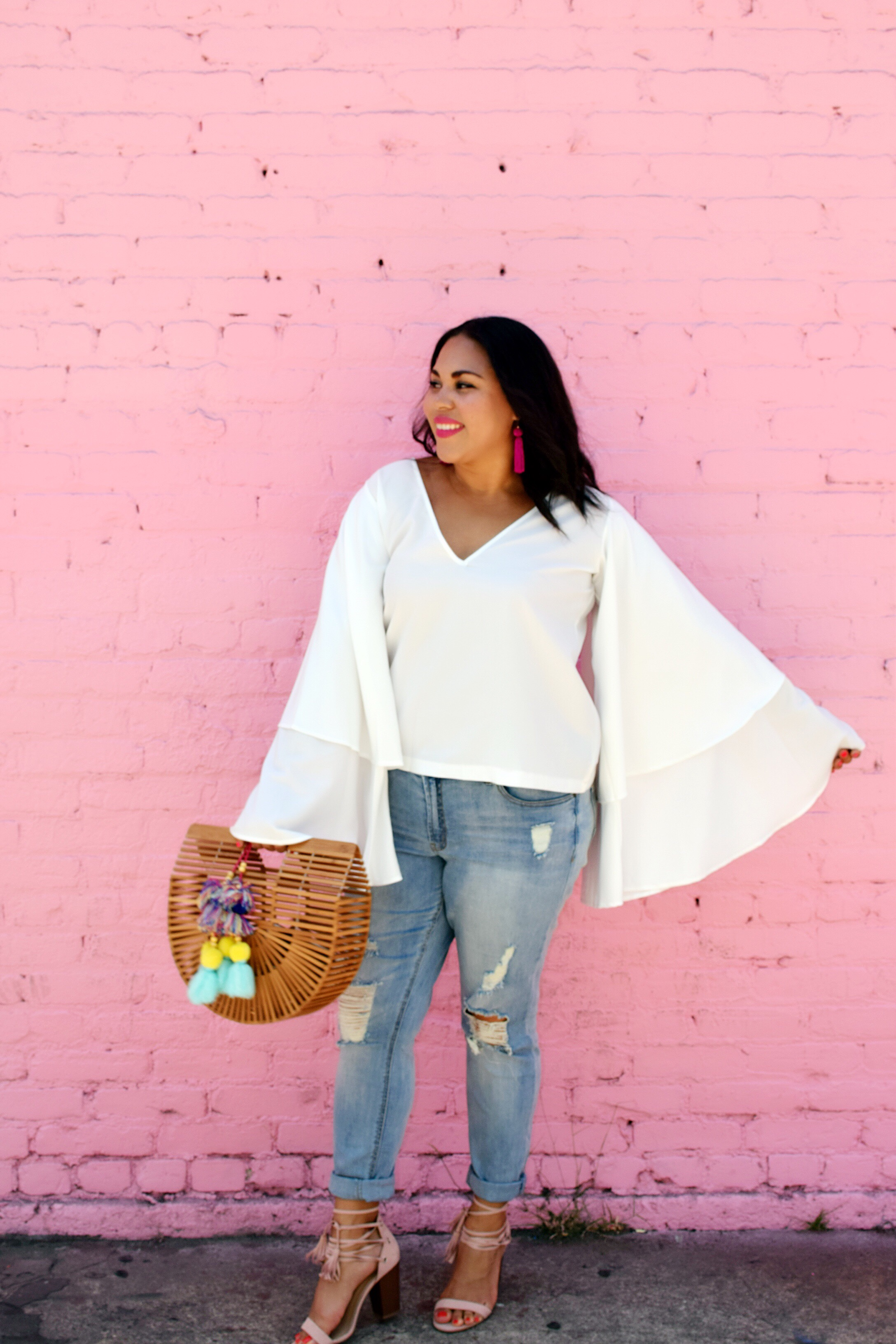 Dramatic Bell Sleeves and Boyfriend Jeans