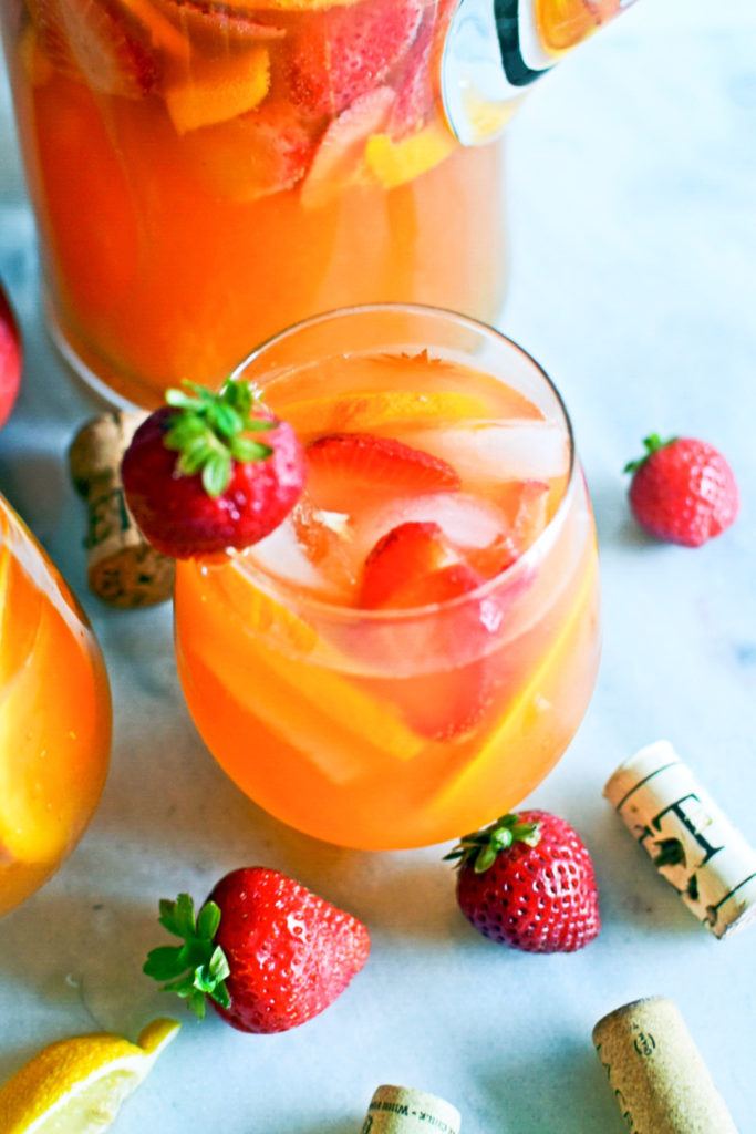 strawberry mango rosé sangria