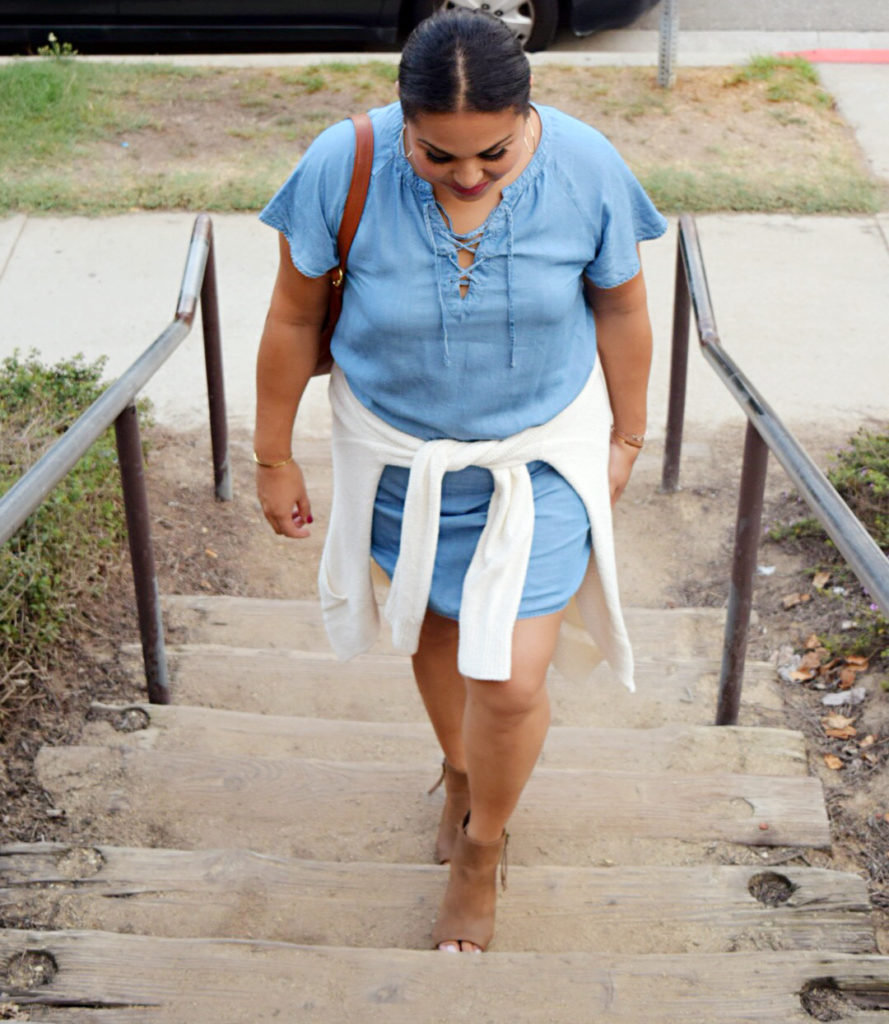 fall chambray dress