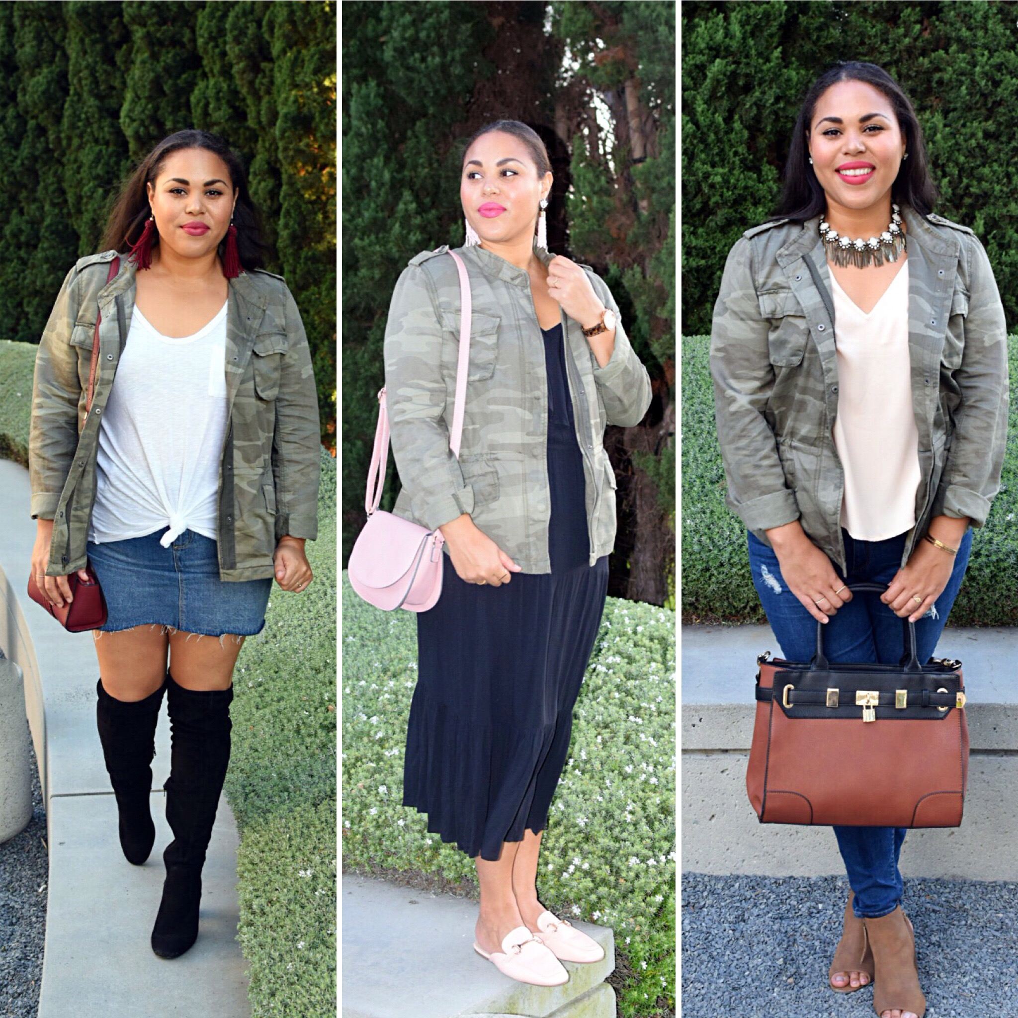 How to Wear Camo: Styling a Camo Jacket 3 Ways