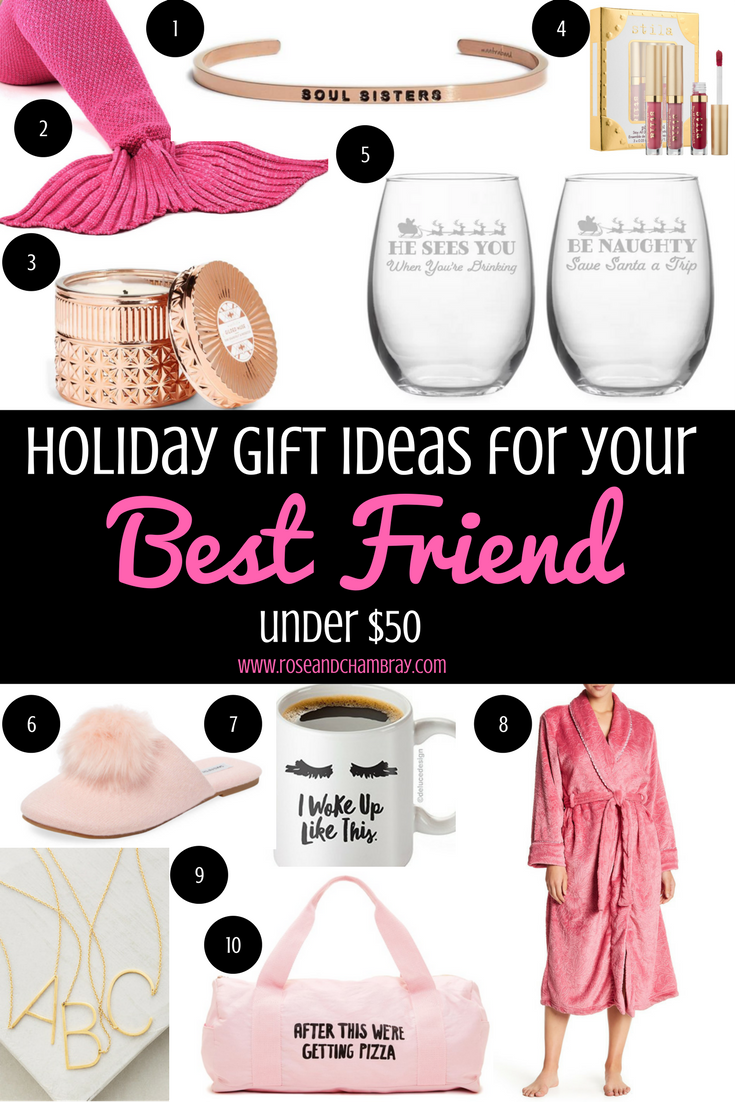 Holiday Gift Ideas for Your Best Friend (Under $40)