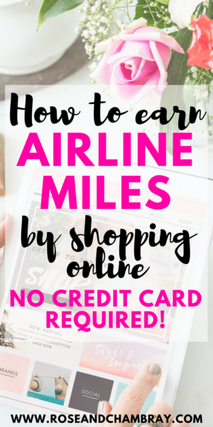 How to earn airline miles by shopping online