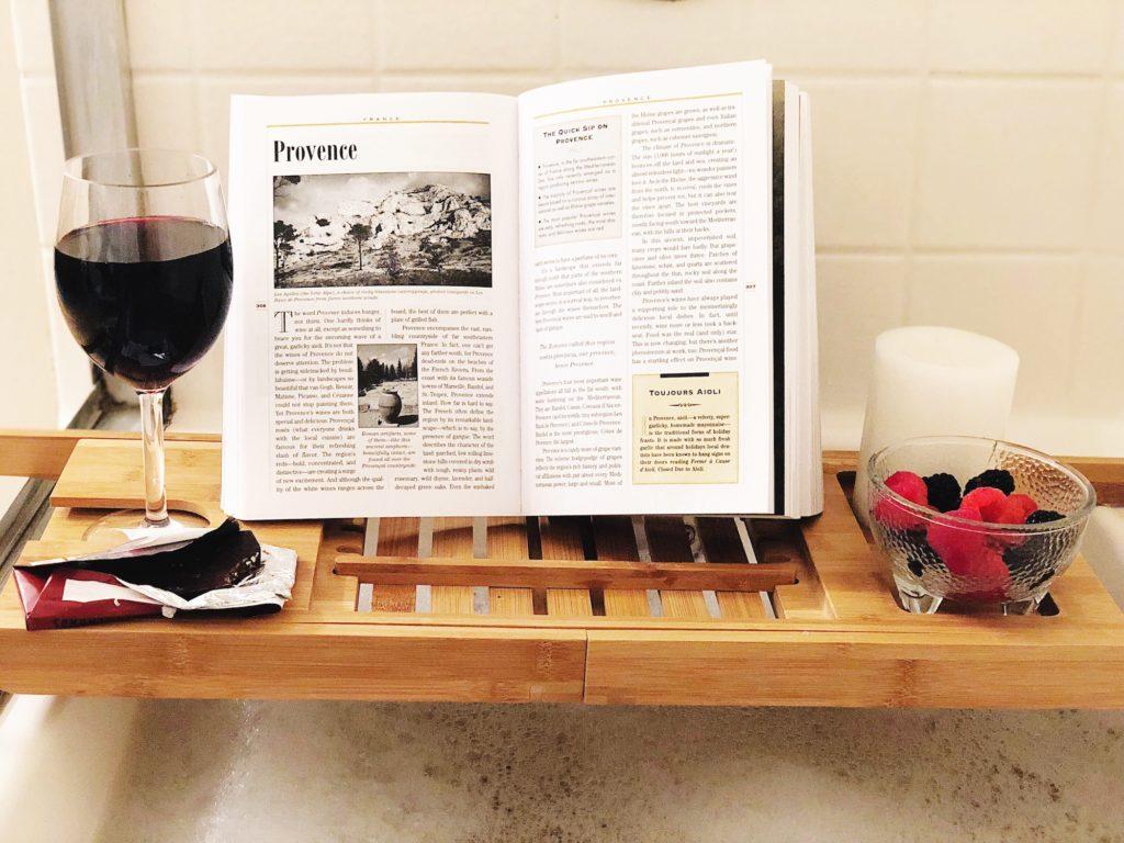 self care and wine