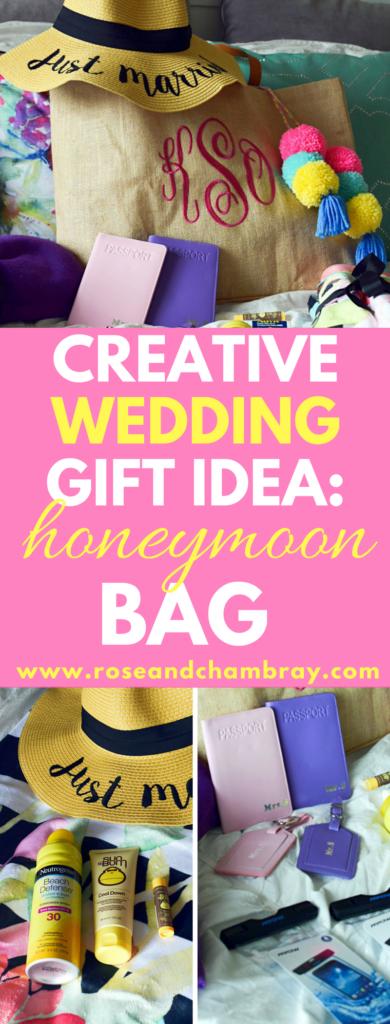 creative wedding gift idea honeymoon bag