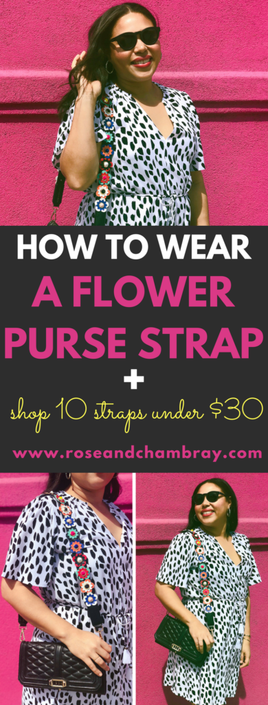 How to wear a flower purse strap