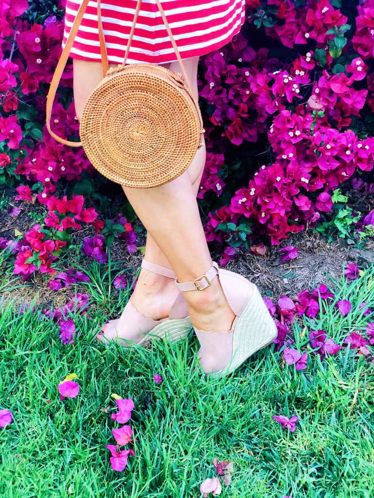 pink espadrille wedges shoedazzle