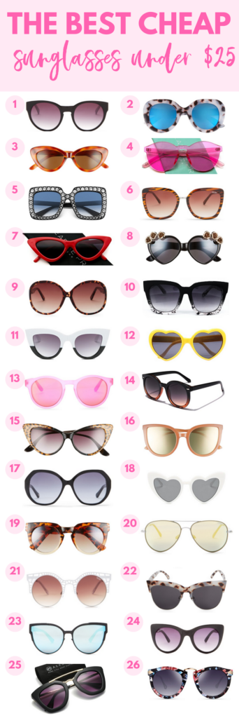 cheap sunglasses under $25