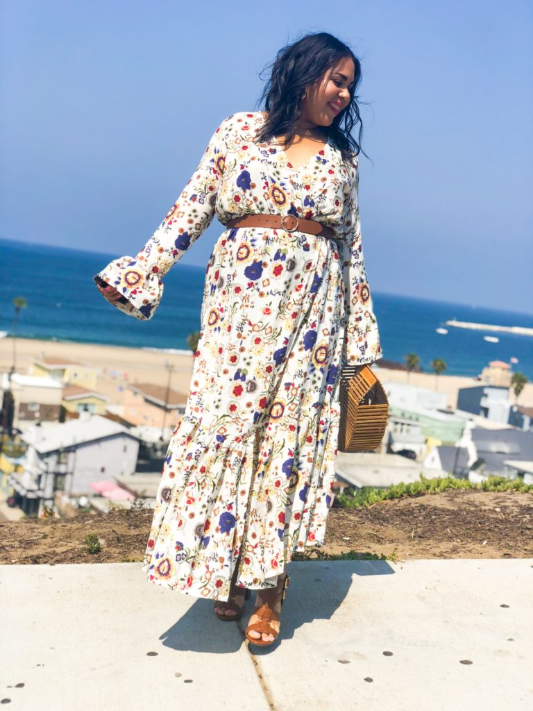 plus size Long Sleeve Maxi Dress