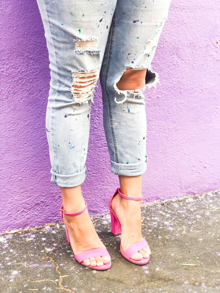 paint splattered jeans
