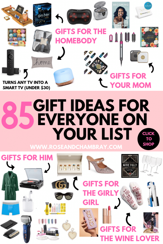 The Ultimate Gift Guide: 85 Gift Ideas For Everyone On Your List