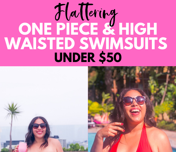 Flattering One Piece and High Waisted Swimsuits for Women (Under $50)