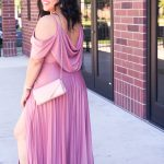 affordable wedding guest dress cold shoulder maxi