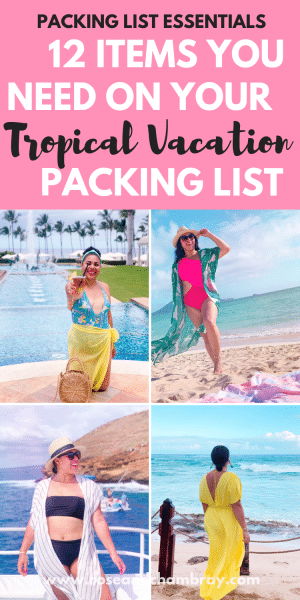 tropical vacation packing list 6