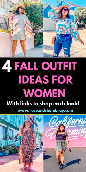 4 fall outfit ideas for women