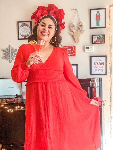 red dress christmas decorations