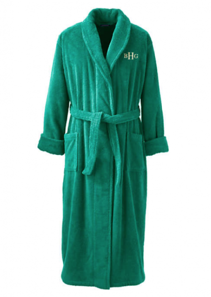 men's monogrammed bath robe