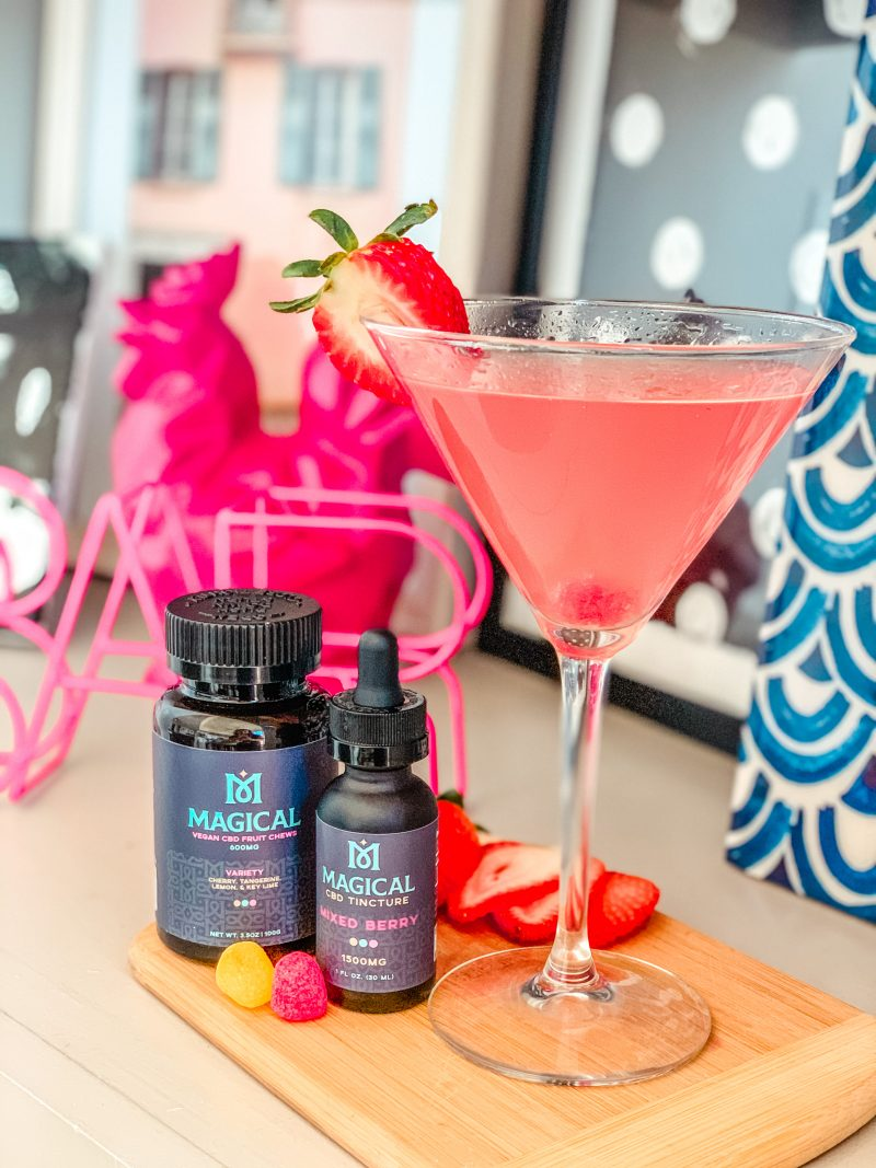CBD Cocktail Recipe: Mixed Berry Ginger Twist CBD Cocktail