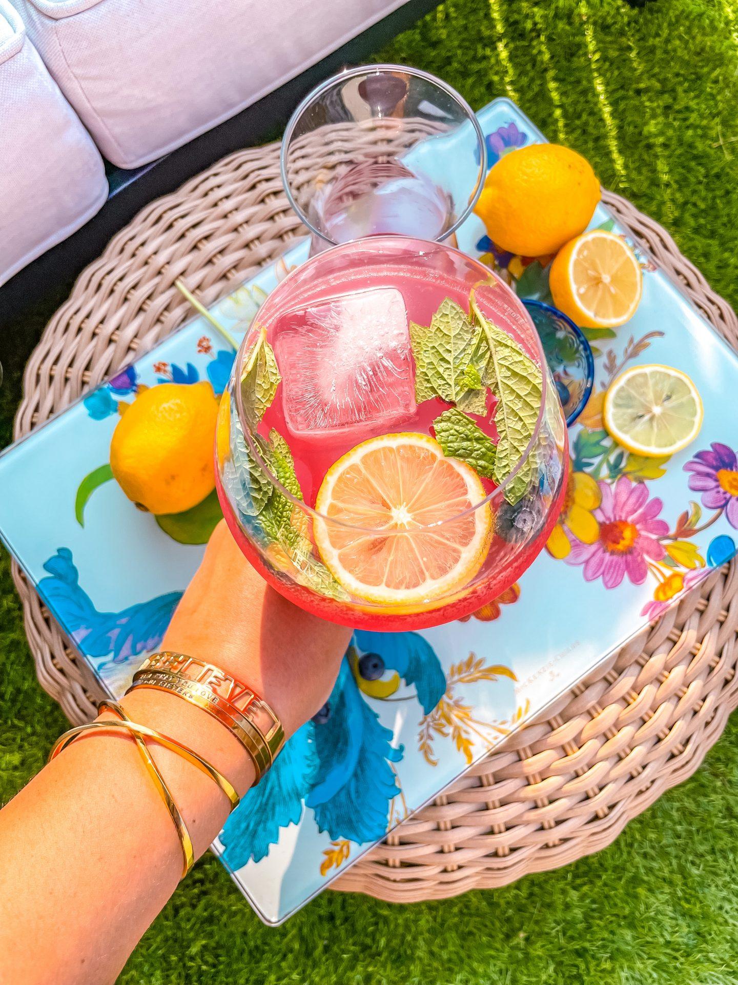 Blueberry Lemonade Spritz Cocktail Recipe
